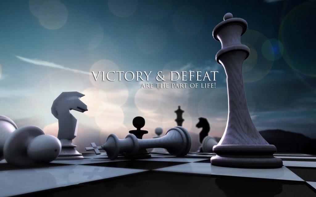 Successo (vittoria) e sconfitta (perdita) sono parte della vita